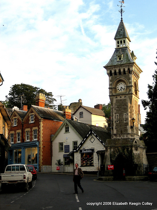 Clock Tower square in Hay-on-Wye