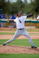 Chicago White Sox minor league pitcher Terance Marin #28 during an instructional league game against the Los Angeles Dodgers at the Camelback Ranch Training Complex on October 6, 2012 in Glendale, Arizona.  (Mike Janes/Four Seam Images)