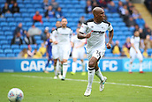 30th September 2017, Cardiff City Stadium, Cardiff, Wales; EFL Championship football, Cardiff City versus Derby County; Andre Wisdom of Derby County looks for options as he chases the ball