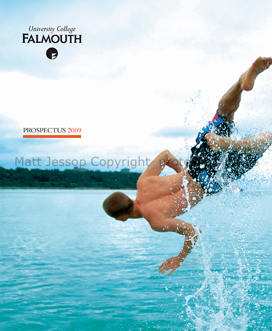 CLIENT: FALMOUTH UNIVERSITY // PROJECT:  ANNUAL PROSPECTUS 2009 // CONCEPT AND DESIGN: GENDALL DESIGN  www.gendall.co.uk // ART DIRECTION: DIGGORY GORDON