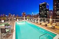 Rooftop Pool On A Highrise Condo