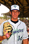 24 June 2008: Vermont Lake Monsters pitcher Tommy Milone. Baseball Card Image for 2008. For in-house use by the Vermont Lake Monsters Only. Editorial or other use of images by other publications or media outlets must secure licensing from the photographer Ed Wolfstein prior to publication, and is based on standards of circulation, and placement in a given publication...Mandatory Credit: Ed Wolfstein.