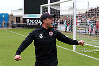 O's coach Ross Embleton at FT with the O's fans during Northampton Town vs Leyton Orient, Sky Bet EFL League 2 Football at Sixfields Stadium on 5th October 2019