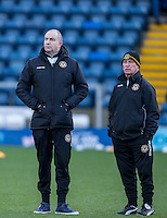 Newport staff during the Sky Bet League 2 match between Wycombe Wanderers and Newport County at Adams Park, High Wycombe, England on 2 January 2017. Photo by Andy Rowland.