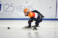SHORT TRACK: TORINO: 14-01-2017, Palavela, ISU European Short Track Speed Skating Championships, 1500m Semifinals, Sjinkie Knegt (NED), ©photo Martin de Jong