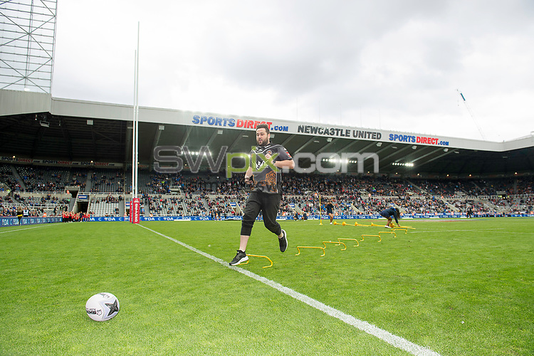 Picture by Allan McKenzie/SWpix.com - 20/05/2017 - Rugby League - Dacia Magic Weekend - St James' Park, Newcastle, England - The brief, Dacia, branding.