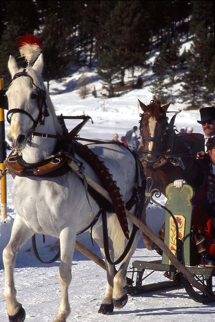Schlitteda Festival, St. Moritz, Switzerland