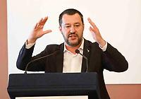 Il ministro degli Interni Matteo Salvini a Napolial termine del comitato per l'ordine e sicurezza a Napoli