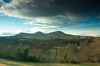 The Eildon Hills near St Boswells, Scottish Borders