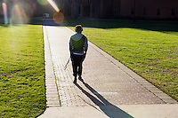 Drill Field students walking<br />  (photo by Megan Bean / &copy; Mississippi State University)