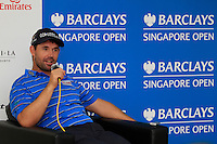 Padraig Harrington (IRL) in the Interview Room ahead of the Barclays Singapore Open, Sentosa Golf Club, Singapore. 6/11/12..(Photo Jenny Matthews/www.golffile.ie)