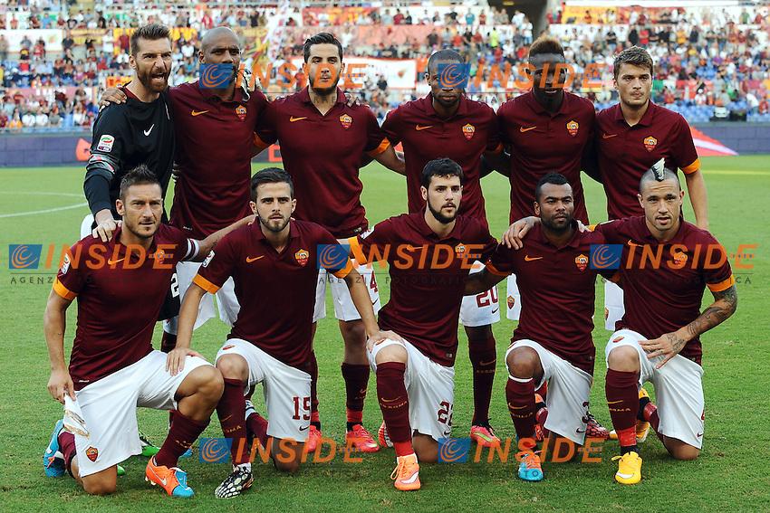 Formazione Roma Team Line ups <br /> Roma 27-09-2014 Stadio Olimpico, Football Calcio Serie A AS Roma - Hellas Verona. Foto Andrea Staccioli / Insidefoto