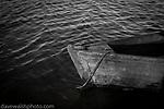 Slaney cot, or boat, on the River Slaney, Wexford, Ireland.