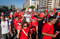 Palermo (Sicily - Italy), 19/07/2017. &quot;L'Acchianata al Castello Utveggio&quot;: march organised by Agende Rosse, and led by Salvatore Borsellino (Brother of the Judge Paolo Borsellino, and founder of the Movemento Agende Rosse/Red Notebooks Movement). The march was from Via D'Amelio to Castello Utveggio (an art nouveau castle on Monte Pellegrino, overlooking Palermo and Via D'Amelio). The castle is where members of the mafia, allegedly along with agents from SISDE (Italy's civil intelligence service), activated the est. 100kg TNT bomb that killed the anti-mafia Magistrate Paolo Borsellino. Also killed by the bomb were five members of Borsellino's police &quot;scorta&quot; (escorts from the special branch of the Italian police force who protect Judges). The police officers were: Agostino Catalano, Emanuela Loi (the first Italian female member of the police special branch and the first one to be killed on duty), Vincenzo Li Muli, Walter Eddie Cosina and Claudio Traina.<br />