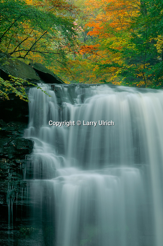 Erie Falls,  Ganoga Glenn<br /> The Glens Natural Area<br /> Ricketts Glen State Park<br /> Luzerne County,  Pennsylvania