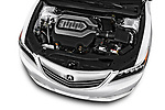 Car stock 2014-2016 Acura RLX Base 4 Door Sedan engine high angle detail view