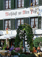 Switzerland, Canton St. Gallen, St. Gallen: Restaurant 'Zur Alten Post' at old town | Schweiz, Kanton St. Gallen, St. Gallen: Altstadt - Wirtschaft zur Alten Post