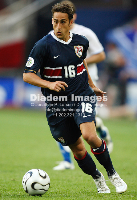 GELSENKIRCHEN, GERMANY - JUNE 12:  Josh Wolff of the United States in action during a FIFA World Cup soccer match against the Czech Republic June 12, 2006 in Gelsenkirchen, Germany.  (Photograph by Jonathan P. Larsen)