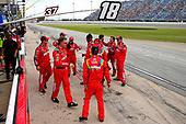 #18: Kyle Busch, Joe Gibbs Racing, Toyota Camry Skittles Red White & Blue crew members celebrates the win