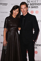Benedict Cumberbach and fiance, Sophie Hunter arriving for the British Independent Film Awards 2014 at Old Billingsgate, London. 07/12/2014 Picture by: Steve Vas / Featureflash