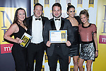 © Joel Goodman - 07973 332324 . 06/11/2014 .  Manchester , UK . Winner of the 50m-£100m category , Trafford Park-based Missguided . The MEN Business Awards 2014 at the Midland Hotel . Photo credit : Joel Goodman