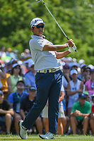 Hideki Matsuyama (JPN) watches his tee shot on 6 during 3rd round of the 100th PGA Championship at Bellerive Country Club, St. Louis, Missouri. 8/11/2018.<br /> Picture: Golffile | Ken Murray<br /> <br /> All photo usage must carry mandatory copyright credit (&copy; Golffile | Ken Murray)