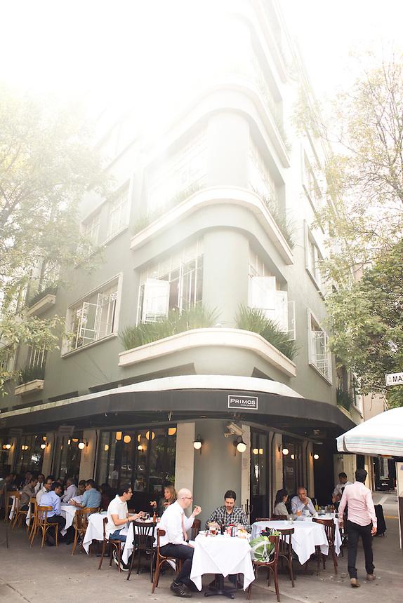 Primos Restaurant, Colonia Condesa, Mexico City.