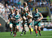 Aviva Premiership Final .Twickenham, England. Geordan Murphy (c) of Leicester Tigers takes a high ball during the AVIVA Premiership Final between Harlequins and Leicester Tigers at Twickenham Stadium on May 26, 2012 in London, United Kingdom.