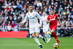 Cristiano Ronaldo (l) of Real Madrid in action during the La Liga 2017-18 match between Real Madrid and Sevilla FC at Santiago Bernabeu Stadium on 09 December 2017 in Madrid, Spain. Photo by Diego Souto / Power Sport Images