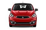 Car photography straight front view of a 2019 Mitsubishi Space Star Black Collection 5 Door Hatchback