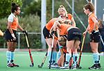 HUIZEN  -  Blessure   , hoofdklasse competitiewedstrijd hockey dames, Huizen-Groningen (1-1)   COPYRIGHT  KOEN SUYK
