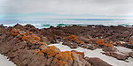 Kangaroo Island Landmark Stokes Bay South Australia the colors of the island in oranges and blue