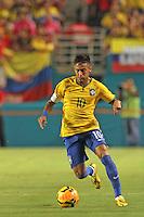 Neymar da Silva Santos Júnior back on the pitch in September 5th 2014 friendly match vs Columbia.