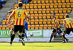 St Johnstone v Partick Thistle...28.09.13      SPFL<br /> Steven MacLean scores to make it 1-1<br /> Picture by Graeme Hart.<br /> Copyright Perthshire Picture Agency<br /> Tel: 01738 623350  Mobile: 07990 594431