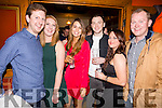 New Year fun in the Lobster Bar, Waterville pictured here l-r; Damien O'Sullivan, Eilish O'Donovan, Catherine Sugrue, Damien Kelly, Richella Foley & Brian O'Leary.