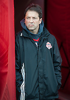 15 April 2010: Toronto FC head coach Preki observes his team during the warm-up in a game between the Philadelphia Union and Toronto FC at BMO Field in Toronto..Toronto FC won 2-1..Photo by Nick Turchiaro/isiphotos.com.