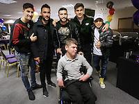 Pictured: Federico Fernandez, Mark Birighitti, Borja Gonzalez, Fernando Llorente and Jefferson Montero Tuesday 06 December 2016<br />Re: Swansea City FC Christmas Party at the Liberty Stadium, Wales, UK