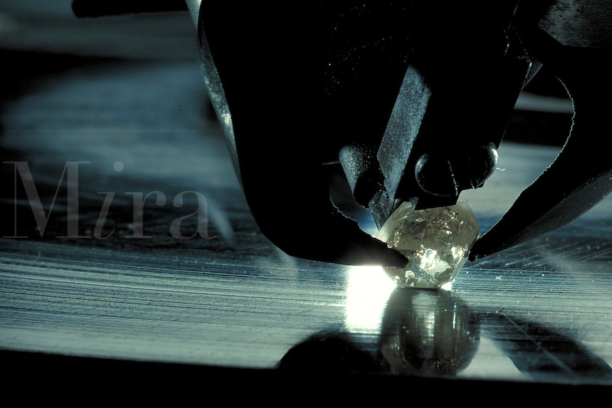 Diamond being polished.