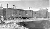 Diner 04404 and commissary 04489 at Alamosa.  #03571 shows an end.<br /> D&amp;RGW  Alamosa, CO  Taken by Richardson, Robert W. - 12/12/1948