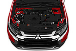 Car stock 2019 Mitsubishi Outlander SEL 5 Door SUV engine high angle detail view
