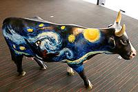 Ciudad de México, MEX. 16 octubre, 2019 – Papalote Museo del Niño.<br />Anuncian el CowParade CDMX 2020, evento de arte urbano que lleva 20 años de presencia continua y a México regresa por su segunda edición. El CowParade es una exhibición internacional pública, donde artistas locales decoran esculturas en fibra de vidrio con forma de vacas.<br />Foto: Francisco Morales/DAMMPHOTO