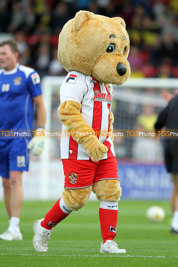 Stevenage mascot - Stevenage vs Watford - Capital One Cup First Round Football at the Lamex Stadium, Broadhall Way, Stevenage, Hertfordshire - 12/08/14 - MANDATORY CREDIT: Mick Kearns/TGSPHOTO - Self billing applies where appropriate - contact@tgsphoto.co.uk - NO UNPAID USE