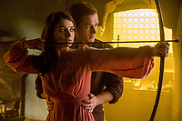 Robin Hood (2018)<br /> Marian' (Eve Hewson) and 'Robin' (Taron Egerton)  <br /> *Filmstill - Editorial Use Only*<br /> CAP/KFS<br /> Image supplied by Capital Pictures