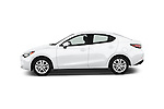 Car Driver side profile view of a 2016 Scion iA 4 Door Sedan Side View