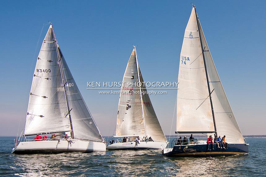 Texoma Sailing Club Icebreaker 1, first sailboat race of 2011.