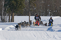 Mushers Andi Heutten and Heather Hardy, 2007 Open North American Championship sled dog race (the world's premier sled dog sprint race) is held annually in Fairbanks, Alaska.