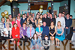 Mick and Mary Galwey Currow seated centre who celebrated their 50th wedding anniversary with their family and friends in Ulicks bar Farranfore on Saturday night..