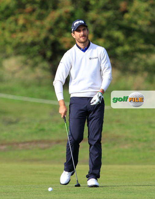 Alejandro Canizares (ESP) on the 2nd fairway during Round 4 of the 2015 KLM Open at the Kennemer Golf &amp; Country Club in The Netherlands on 13/09/15.<br /> Picture: Thos Caffrey | Golffile