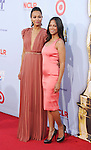 PASADENA, CA - SEPTEMBER 16: Zoe Saldana and Mariel Saldana  arrive at the 2012 NCLR ALMA Awards at Pasadena Civic Auditorium on September 16, 2012 in Pasadena, California.