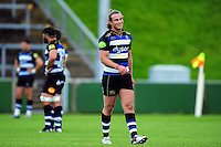Max Clark of Bath Rugby looks on. Pre-season friendly match, between the Scarlets and Bath Rugby on August 20, 2016 at Eirias Park in Colwyn Bay, Wales. Photo by: Patrick Khachfe / Onside Images